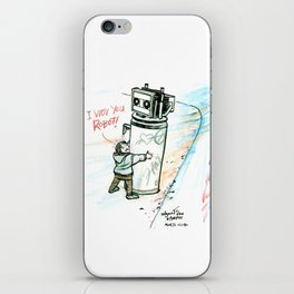 """I Wuv you Robot"" iPhone Skin"