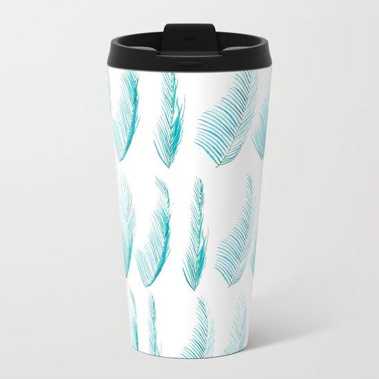 palm leaf Metal Travel Mug