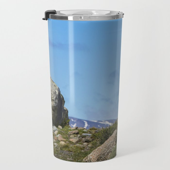 A Guanaco, in Patagonia, Chile. Travel Mug