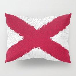 Extruded flag of Alabama Pillow Sham