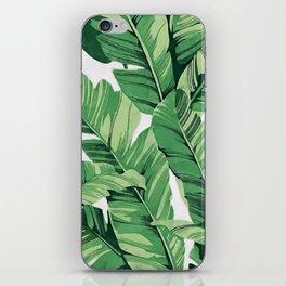 Tropical banana leaves V iPhone Skin