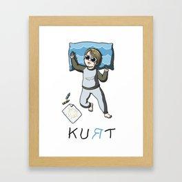 Sleeping artist KURT Framed Art Print