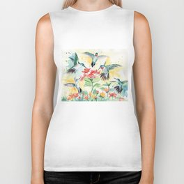Hummingbird Party Biker Tank