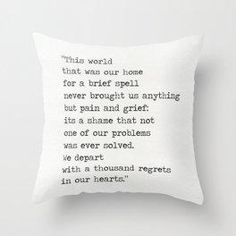 Omar Khayyám quote d Throw Pillow