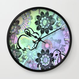 Easter Egg Pattern Wall Clock