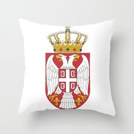 Flag of Serbia - Serbian Flag Throw Pillow