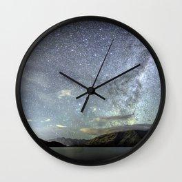 New Zealand Southern Hemisphere Skies Over Lake Wakatipu by OLena Art Wall Clock