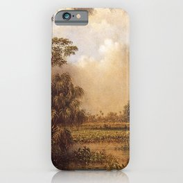 The Great Florida Marsh 1886 By Martin Johnson Heade | Reproduction iPhone Case