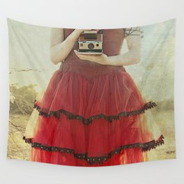 Lady in Red Wall Tapestry