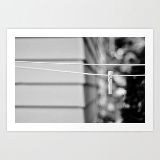 the line Art Print