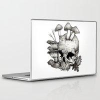 mushrooms Laptop & iPad Skins featuring Mushrooms by Arnaud Gomet