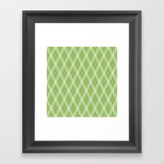 Color of the Year 2017 Designer Colors Greenery Argyle Plaid Framed Art Print