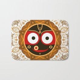 Jagannath. Indian God of the Universe. Lord Jagannatha. Bath Mat