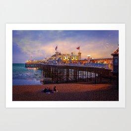 Brighton Pier Twilight Art Print
