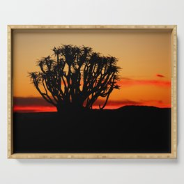 NAMIBIA ... Quiver Tree Sunset Serving Tray