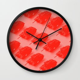 Little Red Tanks Wall Clock