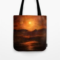 sunset Tote Bags featuring Sunset by Viviana Gonzalez