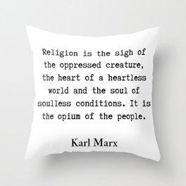 16    Karl Marx Quotes   190817 Throw Pillow