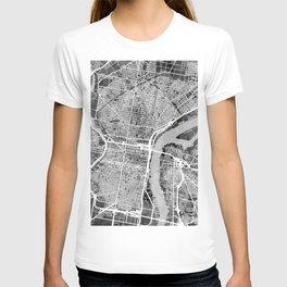 Philadelphia Pennsylvania Street Map T-shirt