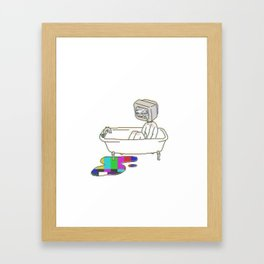 Bathtub TV Head Framed Art Print