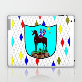 A Mechanical Winged Unicorn with Suns and comet Laptop & iPad Skin