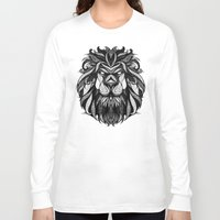 zodiac Long Sleeve T-shirts featuring Signs of the Zodiac - Leo by Andreas Preis