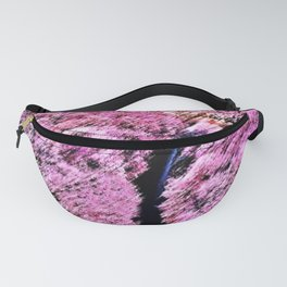 Cherry blossoms in full bloom with snow-capped Mount Fuji of Japan Landscape by Jéanpaul Ferro Fanny Pack