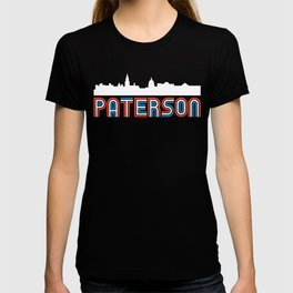 Red White Blue Paterson New Jersey Skyline T-shirt