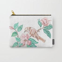 Bird Blossoms Carry-All Pouch