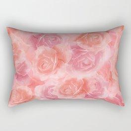Rosey Red Rectangular Pillow