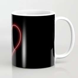 Neon Red Valentines Love Heart Coffee Mug