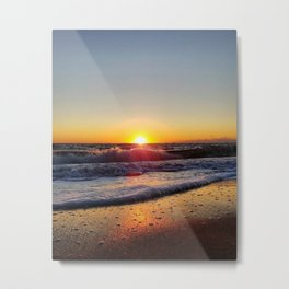 Off-Season Sunset Metal Print