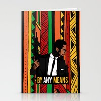 mcfreshcreates Stationery Cards featuring By Any Means by McfreshCreates