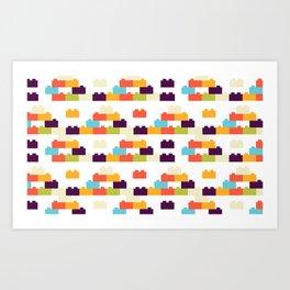 colorful blocks Pattern Art Print