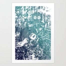 Inky Shadows - Blue edition Art Print