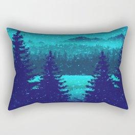 Pine forest in blue Rectangular Pillow