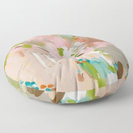 southern europe sun France Italy abstract painting Floor Pillow