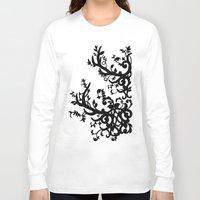 antler Long Sleeve T-shirts featuring Antler Vines by Mad Love