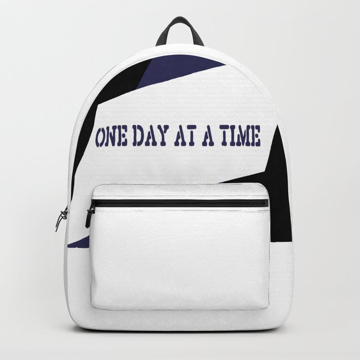 One Day at a Time (blue) Backpack