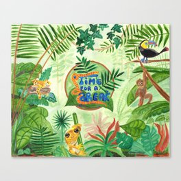 Medilludesign Ecotherapy Jungle Canvas Print