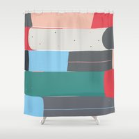 halo Shower Curtains featuring halo n8 by HaloCalo