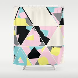 triangle no.3 / with love Shower Curtain