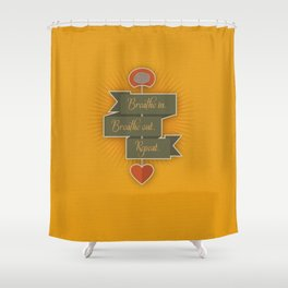 Breathe – yellow Shower Curtain