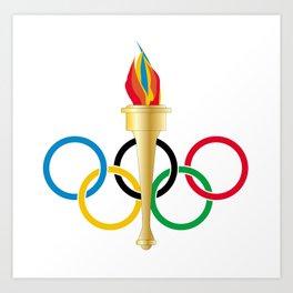 Olympic Rings Art Print
