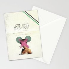 Faster & Faster | Collage Stationery Cards