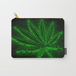 glowing hemp leaf Carry-All Pouch