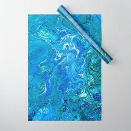 Elegant Crazy Lace Agate 2 - Blue Aqua Wrapping Paper