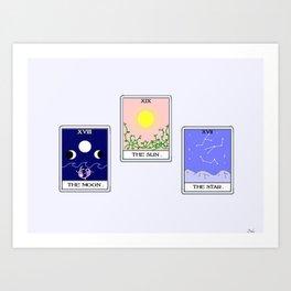 Trio of Tarot Art Print
