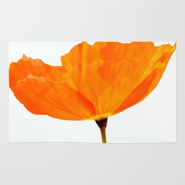 One And Only - Orange Poppy White Background #decor #society6#buyart Rug
