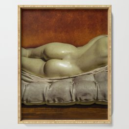 Woman on Bed Sensual Scene Serving Tray
